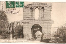 France & Circulated, Ruines Du Palais Gallien, Bordeaux, Condeon, Lisboa 1910 (42) - Monuments