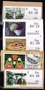Irland - ATM 2015, Michel# 78, 54, 58, 81 + 79 O - Viñetas De Franqueo (Frama)