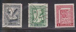 ICELAND Scott # 278-80 Used - 1944-... Republique