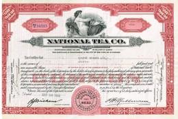 - Certificat De Valeurs Américaines - National Tea Co - Titre De 1937 - Industrie