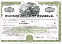 - Certificat De Valeurs Américaines - Consolidetad Edison Co Of New-York Inc. - Titre De 1977 - Industry