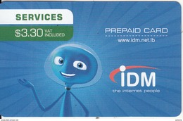 LEBANON - IDM Internet Prepaid Card $3.30, Exp.date 31/12/19, Used - Libanon