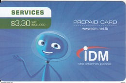 LEBANON - IDM Internet Prepaid Card $3.30, Exp.date 31/12/18, Used - Libanon