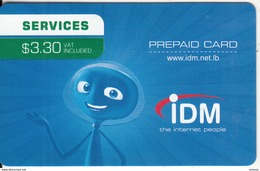 LEBANON - IDM Internet Prepaid Card $3.30, Exp.date 30/09/16, Used - Lebanon