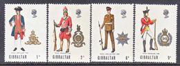 Gibraltar 226-9   *   MILITARY UNIFORMS - Gibraltar