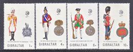 Gibraltar 276-9   *   MILITARY UNIFORMS - Gibraltar