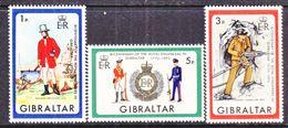 Gibraltar 283-5   *   MILITARY UNIFORMS - Gibraltar