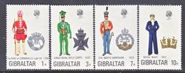 Gibraltar 286-9   *   MILITARY UNIFORMS - Gibraltar