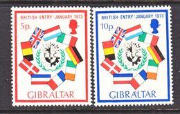 Gibraltar 294-5    *    E.E.C.   FLAGS - Gibraltar