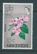 Grenada 1968 Flora & Fauna Definitives 15c Grey Flower Better Value MNH - Grenada (...-1974)