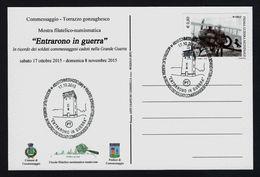 """2015 ITALIA """"MOSTRA FILATELICA """"ENTRARONO IN GUERRA"""" / CENTENARIO GRANDE GUERRA"""" ANNULLO 17.10.2015 (COMMESSAGGIO) - Italia"""