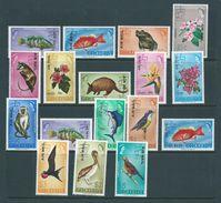 Grenada 1972 Air Mail Overprint / Surcharge On Flora & Fauna Definitives Set Of 17 MNH - Grenada (...-1974)