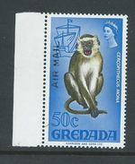 Grenada 1972 Air Mail Overprint / Surcharge On Flora & Fauna Definitives 50c Monkey MNH - Grenada (...-1974)