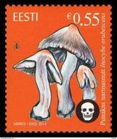 Estonian Mushrooms - Deadly Fibrecap  2014 Estonia MNH Stamp Mi 805 - Champignons