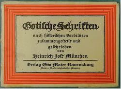 12 Bogen Gotische Schriften Nach Historischen Vorbildern - Von Heinrich Jost München  -  Ca. 24 X 18 Cm Größe - Sonstige