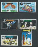 Grenada 1971 Apollo 15 Space Missions Set Of 6 MNH - Grenada (...-1974)