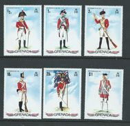 Grenada 1971 Military Uniforms Set Of 6 MNH - Grenada (...-1974)
