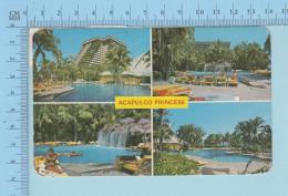 Acapulco Mexico - Hotel Acapulco Princes Multi-views, Cover Corriero  1987 Acapulcu - Mexique