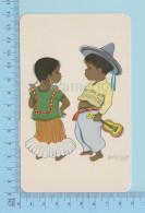 Mexico ( Motivo Tipico Mexicano , Mexican Tipical Costume ) 2 Scans - Amérique