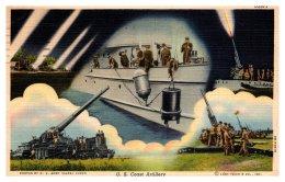 9621 WWII  U.S. Coast Artillery - Militaria
