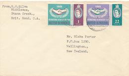 BRITISH HONDURAS  - 1965 , Brief Nach Wellington - Belize (1973-...)