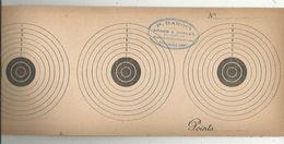 Cible De Tir Triple, 34 X 13.5, Publicité : P. Bardin, Armes Et Cycles, LENCLOITRE ,Vienne , 2 SCANS ,  Frais Fr 1.75 E - Sonstige
