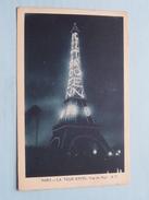 La TOUR EIFFEL Vue De Nuit ( Detail Reclame CITROËN ) ( A.P. ) Anno 1927 ( Zie Foto's Voor Detail ) ! - Tour Eiffel