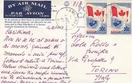 11267-CARTOLINA ILLUSTRATA AFFRANCATA COPPIA 5C - 1952-.... Reign Of Elizabeth II