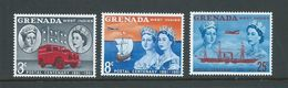 Grenada 1961 Stamp & Post Centenary Set Of 3 MNH - Grenada (...-1974)