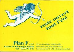 Bruxelles (1040) - Sexualité : PLAN F Asbl - Centre De Planning Familial De St-Josse, 22 Rue Des Guildes. CPSM. - Santé, Hôpitaux
