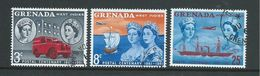 Grenada 1961 Stamp & Post Centenary Set Of 3 FU - Grenada (...-1974)