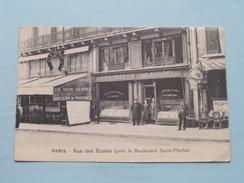 Rue Des ECOLES ( Près Le Boulevard Saint-Michel ) Stamp E. NOURRY ( Catala ) Anno 1938 ( Zie Foto's Voor Detail ) ! - Frankrijk