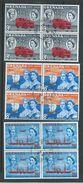 Grenada 1961 Stamp & Post Centenary Set Of 3 FU Blocks Of 4 - Grenada (...-1974)