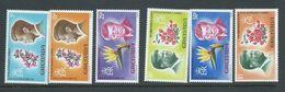 Grenada 1967 President Kennedy Flower Set Of 6 MNH - Grenada (...-1974)