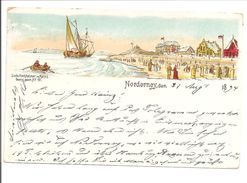 Norderney. Vorläuferkarte 1894. Lithokarte - Norderney