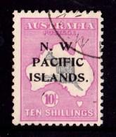 N. W. Pacific Islands 1919 Kangaroo 10/- 3rd Watermark Used - Listed Variety - Papua New Guinea