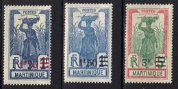 Martinique N° 115 - 117 * - Martinica (1886-1947)