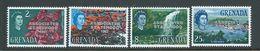 Grenada 1967 Associated Statehood Overprint In Silver Set 4 MNH - Grenada (...-1974)