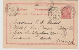 RP160 / Mi.Nr. P 45 Nach Frankreich Und Weiterleitung An Neue Anschrift - Allemagne