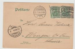 Ger454 / Mannheim, Flaggenstempel 1904 Nach Wengen, Schweiz - Allemagne