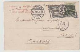 Ger457/  MANNHEIM , Flaggenstempel 1905 Auf AK Neue Turnhalle - Allemagne
