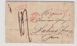 Bay389 / BAYERN -  Lindau 1845, 2-Zeiler Rot Nach Salines In Franz. Jura - Duitsland