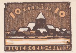 Notgeld Stadt CRIVITZ : 10 Pfennig - [ 3] 1918-1933 : Weimar Republic