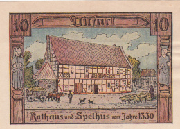 Notgeld Stadt DITFURT : 10 Pfennig - Non Classés