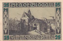 Notgeld Stadt BLOGAU : 25 Pfennig - [ 3] 1918-1933 : République De Weimar
