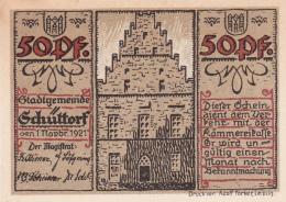 Notgeld  : 50 Pfennig  - Stadt SCHUTTORF - [ 3] 1918-1933 : République De Weimar