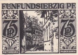 Notgeld  : 75 Pfennig - Stadt PADEBORN - [ 3] 1918-1933 : République De Weimar