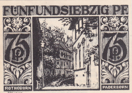 Notgeld  : 75 Pfennig - Stadt PADEBORN - [ 3] 1918-1933 : Weimar Republic