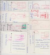 Lot Of 8 Postcards & RED MACHINE CANCELATION - Mazedonien
