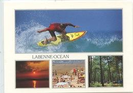 Labenne Océan Multivues - Plage Foret Pins Surf Coucher De Soleil (sports) éd Combier Cp Vierge - Other Municipalities